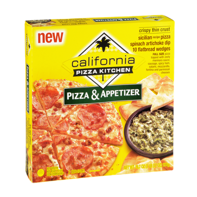 California Pizza Kitchen Crispy Thin Crust Pizza & Spinach Artichoke Dip Appetizer