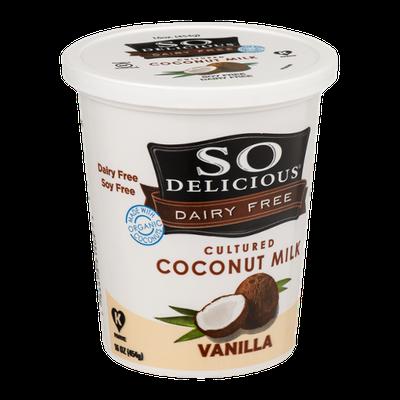 So Delicious Dairy Free Cultured Coconut Milk Vanilla
