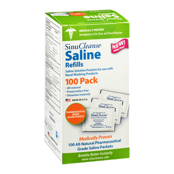 Sinu Cleanse Saline Refills Saline Packets - 100 CT