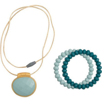 Babies R Us Infantino Teething Gems Pendant and Bracelet Set - Teal