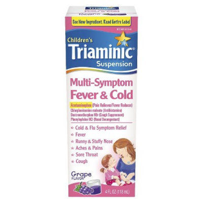 Triaminic Children's Multi-Symptom Fever and Cold Suspension Grape -