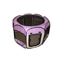 Bestpet Purple Pet Dog Cat Tent Puppy Playpen Exercise Pen M