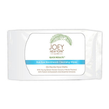 Joey New York Quick Results Bye Bye Blackheads Cleansing Wipes, 30 ea
