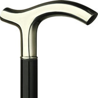 Harvy Men Handsome Cane Black Maple Shaft With Alpacca Handle -Affordable Gift! Item #DHAR-9012500