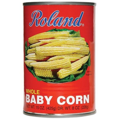 Roland Medium Whole Baby Corn, 15-Ounce Cans (Pack of 24)