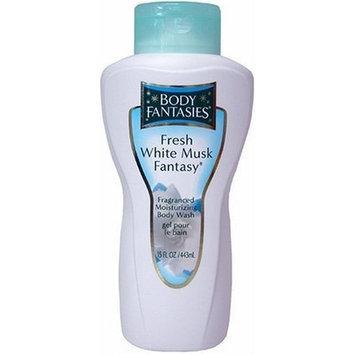 Fresh White Musk Fantasy by Parfums De Coeur for Women. Fragranced Moisturizing Body Wash 15 Oz / 443 Ml