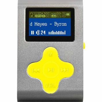 Eclipse - 4GB* Mp3 Player - Silver/yellow