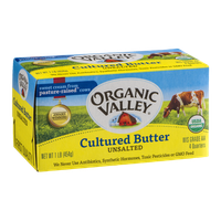Organic Valley Cultured Butter Unsalted - 4 CT