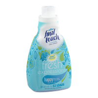Final Touch Fresh Expressions Ultra Fabric Softener Happy Blue Lotus & Sunshine