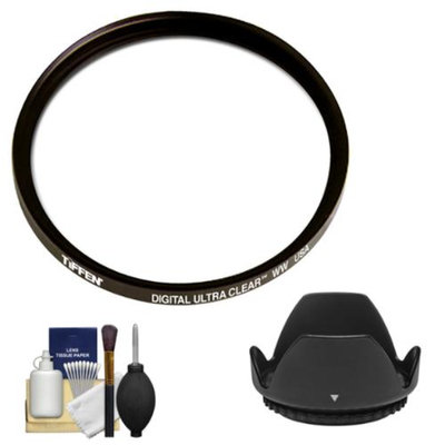 Tiffen 58mm Digital Ultra Clear WW Protective Filter with Lens Hood + Cleaning Kit