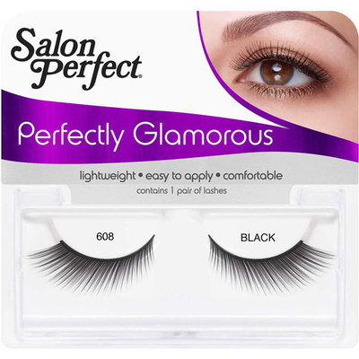 Salon Perfect Perfectly Glamorous Eyelashes, 608 Black, 1 pr