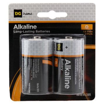 DG Home D Alkaline Batteries - 2-Pack