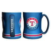 Boelter Brands MLB Rangers Set of 2 Relief Coffee Mug - 14oz