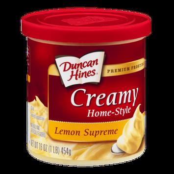 Duncan Hines Home-Style Premium Frosting Lemon Supreme Creamy