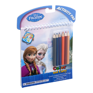 Disney Frozen Color and Carry Activity Pad