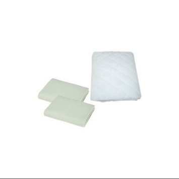 American Baby Company Supreme Jersey Portable Crib Sheet 2 Pack with Waterproof Mattress Pad, Celery
