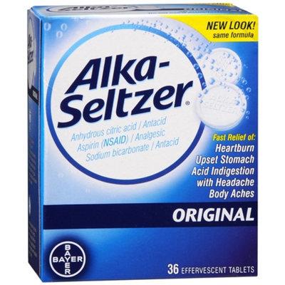 Alka Seltzer Original Antacid & Pain Relief Medicine Effervescent Tablets