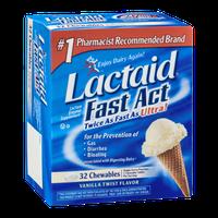 Lactaid Fast Act Lactase Enzyme Supplement Chewables Vanilla Twist Flavor - 32 CT