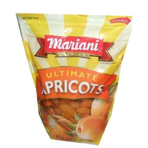 Mariani Premium Dried Ultimate Apricots 48 oz Resealable Value Bag