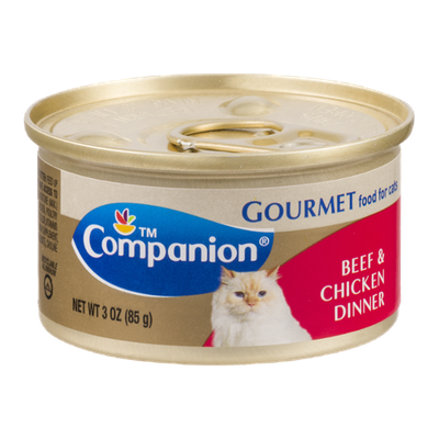 Companion Gourmet Food for Cats Beef & Chicken Dinner 3 OZ
