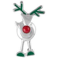 Eziba Silvermoon Sterling Silver Reindeer Enamel and Agate Brooch