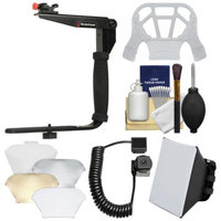 Stroboframe Quick Flip 350 Flash Bracket with Off-Camera Cord + Soft Box + Diffuser Kit for Canon EOS 6D, 70D, 7D 5D Mark II III, Rebel T3, T3i, T4i, T5, T5i, SL1