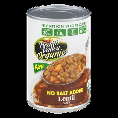Health Valley Organic Soup Lentil No Salt Added