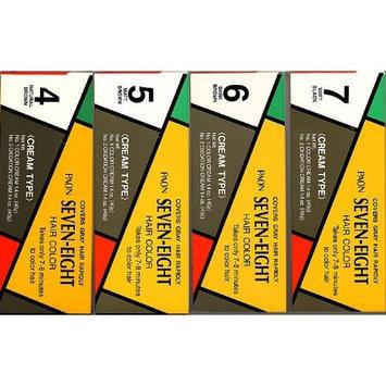 PAON Seven-Eight Hair Color #6 Dark Brown Refill - Tube 1 Color Cream 1.4 Oz - Tube 2 Oxidation Cream 1.4 Oz