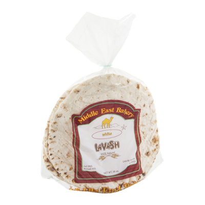 Middle East Bakery Lavash White - 4 CT