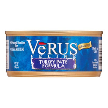 Verus Grain Free Turkey Pate Canned Wet Cat Food (5.5 oz.) (Set of 24)