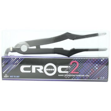 Turboion Wbna450 Croc2 Titanium Wet To Dry Flat Iron, Black, 1-inch