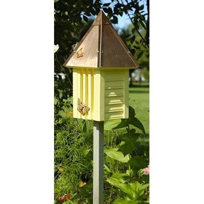 Heartwood Flutterbye Butterfly House, Yellow with Copper Roof