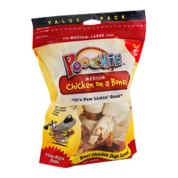Poochie Chicken on a Bone for Medium - Large Dogs