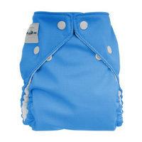 FuzziBunz Perfect Size Cloth Diaper, Light It Up Blue, Medium 15-30 lbs
