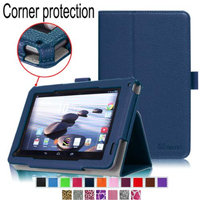 Fintie Premium Vegan Leather Slim Fit Stand Cover for Acer Iconia B1-720 7 -Inch Tablet, Navy
