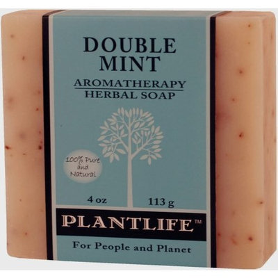 Plantlife Double Mint 100% Pure & Natural Aromatherapy Herbal Soap- 4 oz (113g)