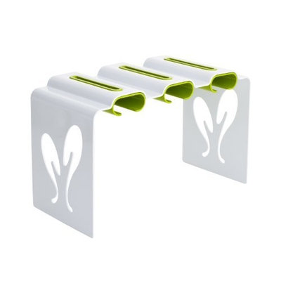 Tomy Boon Pouch Rack Baby Food Pouch Organizer, White/Green (Discontinued by Manufacturer)