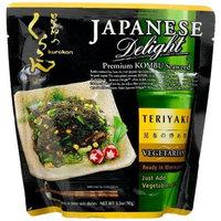 Japan Gold Japanese Delight Premium Kombu Seaweed Teriyaki Flavor, 3.1-Ounce (Pack of 3)