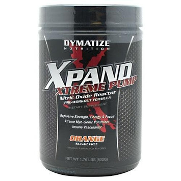 Dymatize Nutrition Xpand Xtreme Pump Sugar Free, Orange, 1.76 Pound