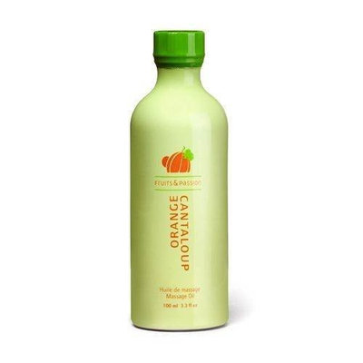 Fruits & Passion Fruity Massage Oil, Orange-Cantaloup, 3.3-Ounce Bottle