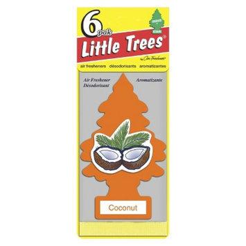 Car-Freshner Corporation COCONUT 6 PK LIL TREE FRESHNER