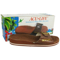 Acu-Life Brown W/Buckle M6/W7 Massage Sandals 1 Pair