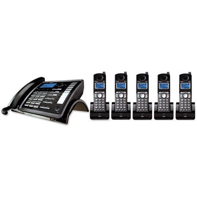 GE/RCA 25255RE2 + (4) 25055RE1 DECT 6.0 2-Line Corded/Cordless Phone