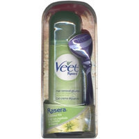 Veet Rasera Hair Removal Gel Cream Fresh Sensation + Bladeless Tool 145g/5.1oz