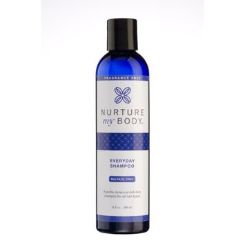 Organic Everyday Shampoo by Nurture My Body - 100% Organic - Fragrance Free - For All Hair Types - Color Safe - Satisfaction GUARANTEED!
