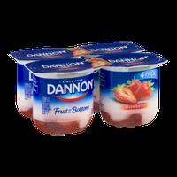 Dannon Fruit on the Bottom Nonfat Yogurt Stawberry - 4 CT