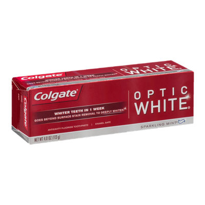 Colgate Optic White Anticavity Fluoride Toothpaste Sparkling Mint