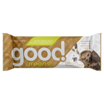 Good Greens Wellness Bar Gluten Free Chocolate Peanut Butter 1 Bar