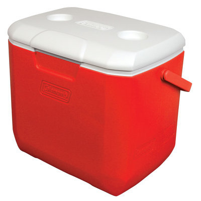 Coleman 30 Quart Red/White Personal Cooler