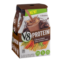 V8 Protein Shakes Chocolate - 4 CT